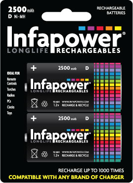 Infapower Rechargeable D / 2600 mAh B2 (1)